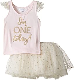 Mud Pie One Tutu Skirt Set (Infant)