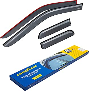 Goodyear Shatterproof Side Window Deflectors for Trucks Ford F-150 2015-2019 SuperCab, Tape-on Rain Guards, Vent Window Visors, 4 Pieces – GY003113