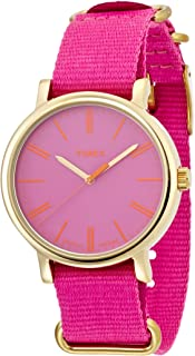 Timex Women's Quartz Watch with Analogue Display and Nylon Strap
