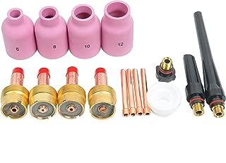 YaeTek TIG Welding Large Gas Lens Accessory Kit Cup-Collet-Gas Lens-Gasket-Back Cap 0.040