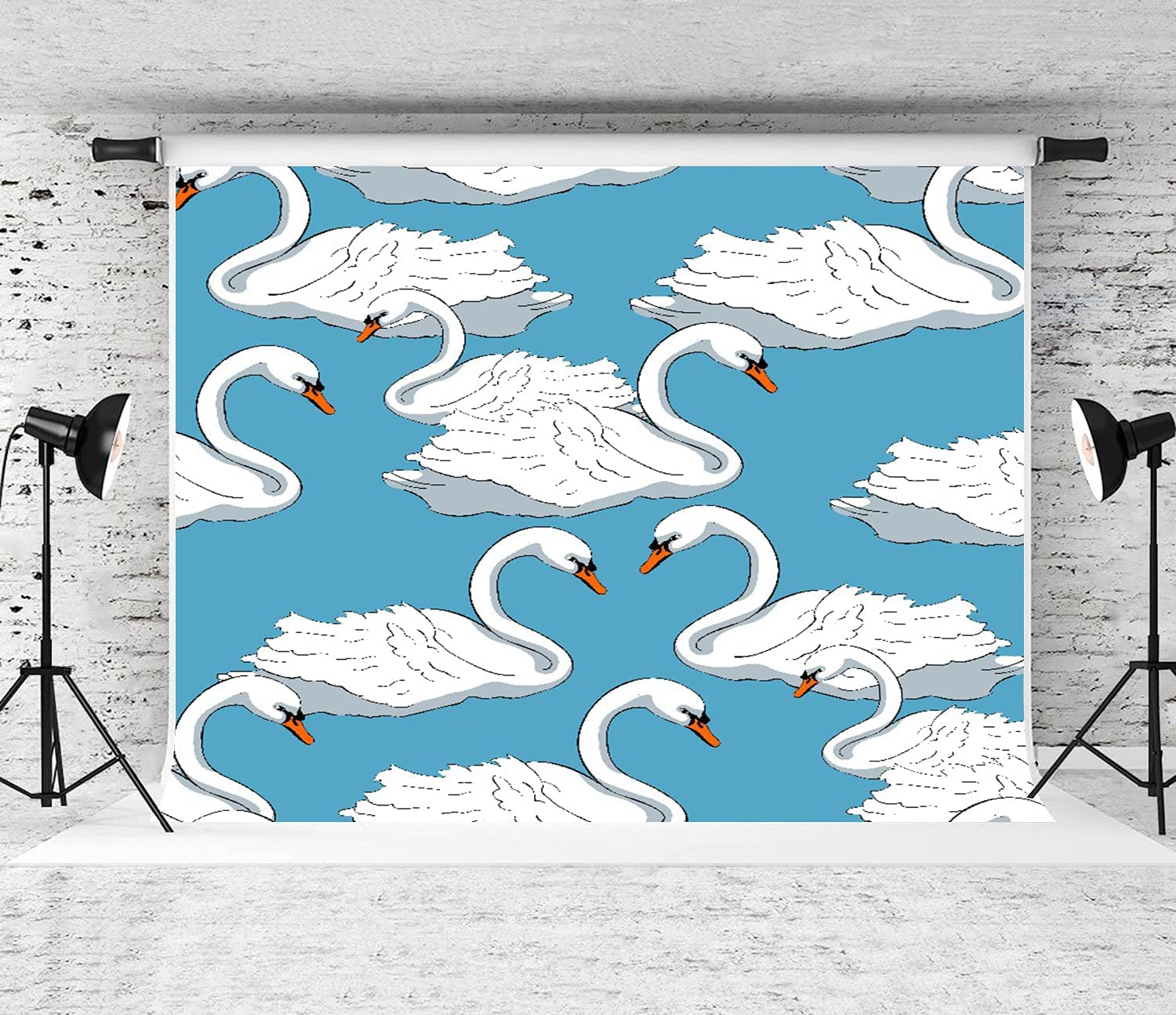 CANCAKA Photography Background Swan Gentle Limited price Blue Color On Birds P Max 42% OFF