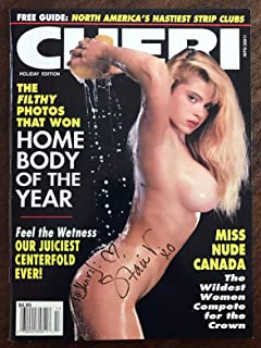 Cheri Busty Adult Magazine Holiday Edition 1991 Miss Nude Canada