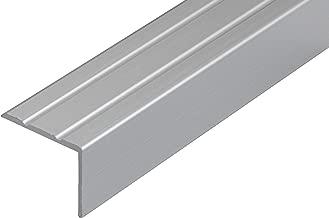 unsichtbare Montage: selbstklebend//vorgebohrt vorgebohrt, schwarz, 100 cm Alu Treppenkantenprofil Power Grip Treppenwinkel Profil in 3 Farben /& L/ängen rutschhemmende Gummi-Einlage