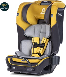 Diono Radian 3QX Latch, All-in-One Convertible Car Seat, Yellow Mineral