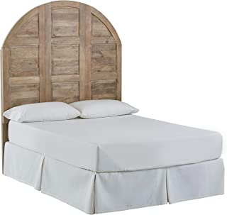 Stone & Beam Arced Rustic King Bed Headboard with Raised Panels - King, 79 Inch, New Whitewash