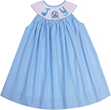 Angeline Boutique Girls Hand Smocked Easter Eggs Bunny Bishop Doll Dress