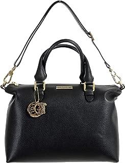 Collection Women's Saffiano Black Leather Satchel Shoulder Bag