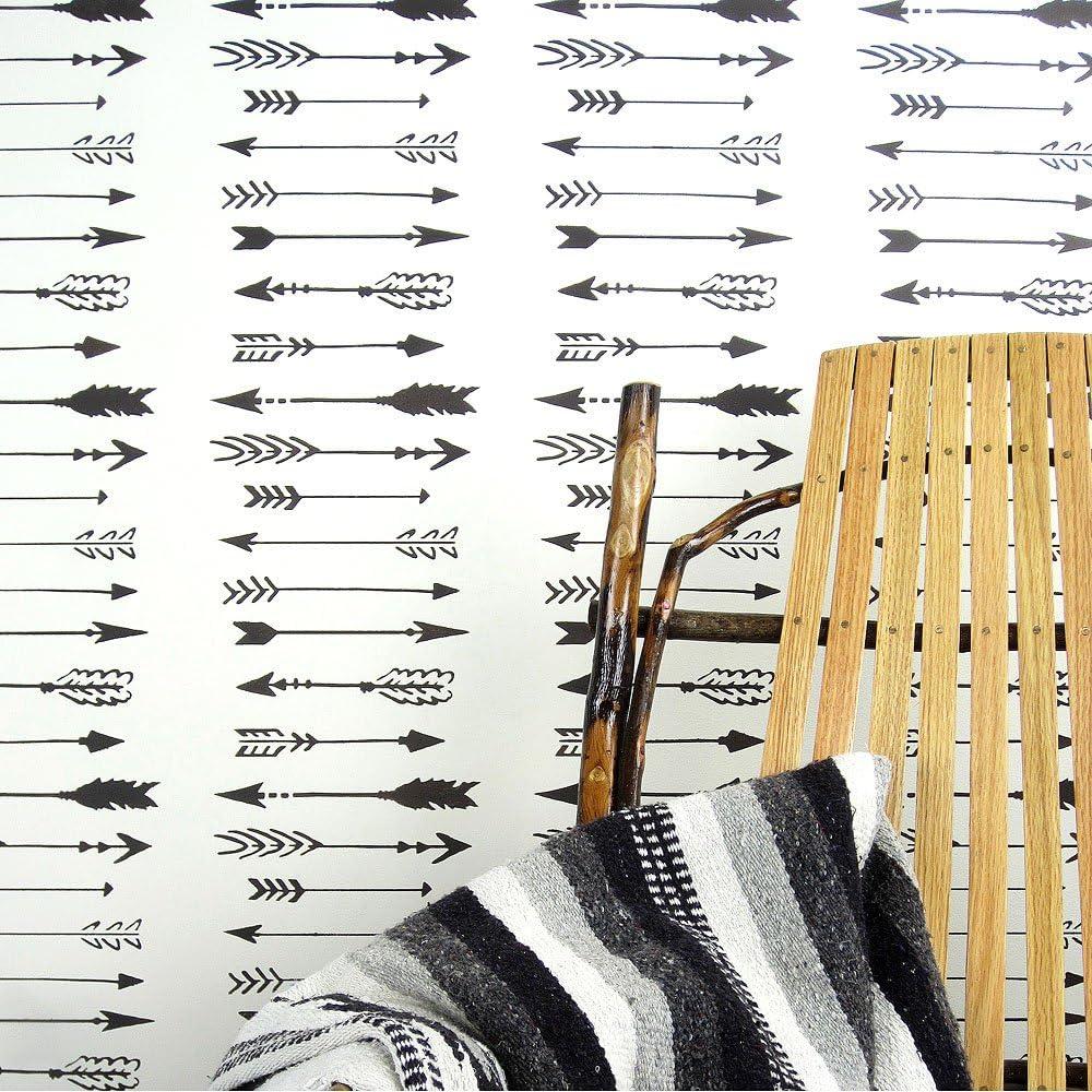 Indian Arrows Allover Wall Manufacturer supreme direct delivery Pattern - Decor DIY Stencil DI