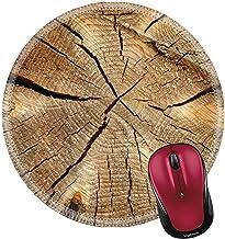 Not Applicable Alfombrilla de ratón Redonda Alfombrilla de Goma Natural Sección Transversal de un Viejo Tronco de árbol