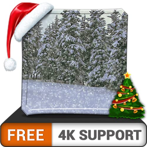 kostenlos starker Schneefall HD - dekorieren Sie Ihr Zimmer mit einer wunderschönen Landschaft auf Ihrem HDR 4K-Fernseher, 8K-Fernseher und Feuergeräten als Hintergrundbild, Dekoration für die Weihnac