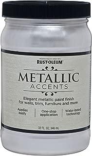 Rust-Oleum 253610 Metallic Accents Paint, Quart, Sea Shell