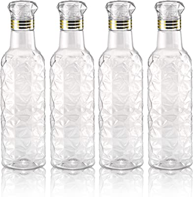 Emporium Plastic Fridge Water Bottle Set for Office, Sports, School, Travelling, Gym, Yoga - BPA and Leak Free & Unbreakable Bottle Color May Vary (Set of 2)