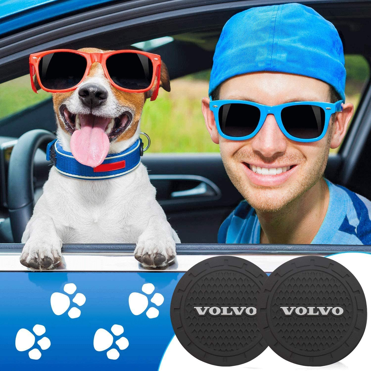 2 Pcs 99 Carpro 2.75 Car Interior Accessories Silicone Anti Slip Cup Mat Niversal Vehicle Cup Holder Coasters for Jeep Audi BMW Ford Mustang Cadillac Dodge Toyota Rams