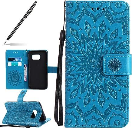 01c38806af1 Funda para Samsung Galaxy S7 Edge Billetera PU,Uposao Slim Flip Case Libro  Funda de