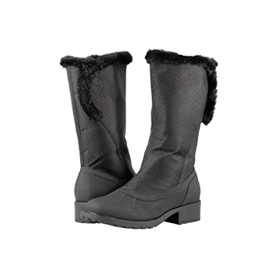 Trotters Bowen Waterproof (Black Rubberized Waterproof/Ballistic Nylon Waterproof/Faux Fur) Women