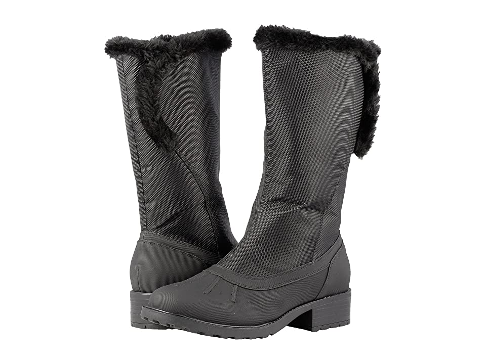 Trotters Bowen Waterproof (Black Rubberized Waterproof/Ballistic Nylon Waterproof/Faux Fur) Women