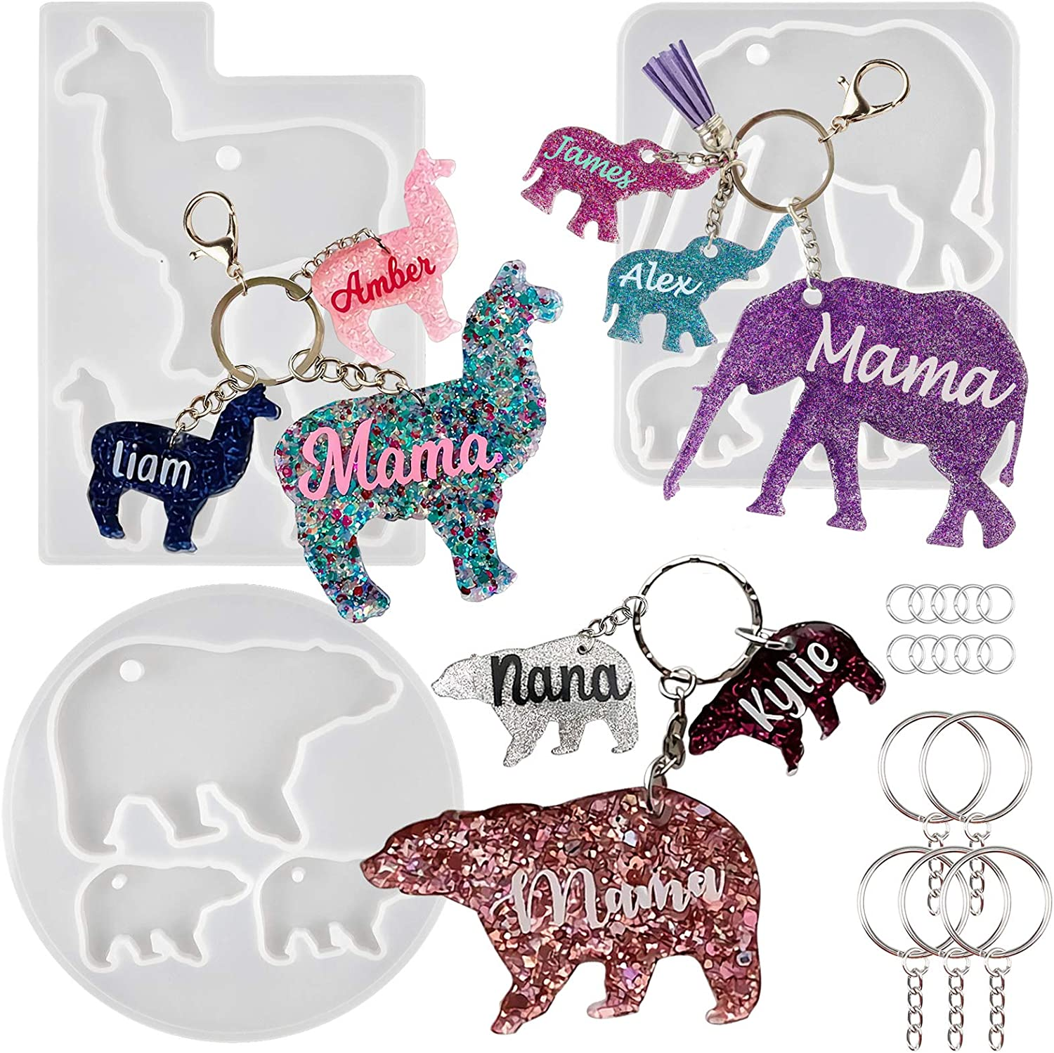 Keychain Charms Epoxy Resin Silicone New arrival Molds and Superlatite Mom Tag Llam Baby