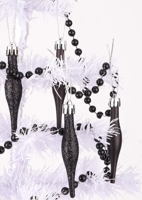 Christmas Bead Garlands 9ft Christmas Bead Chain Black Christmas Decorations