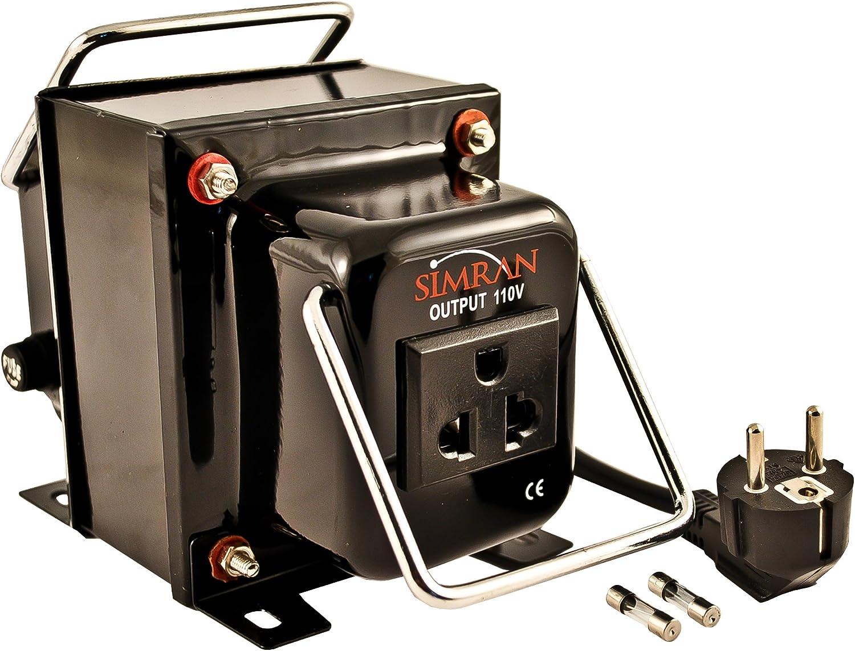 SIMRAN THG-3000 3000 watt Step Down Transformer Voltage Power Converter, Black