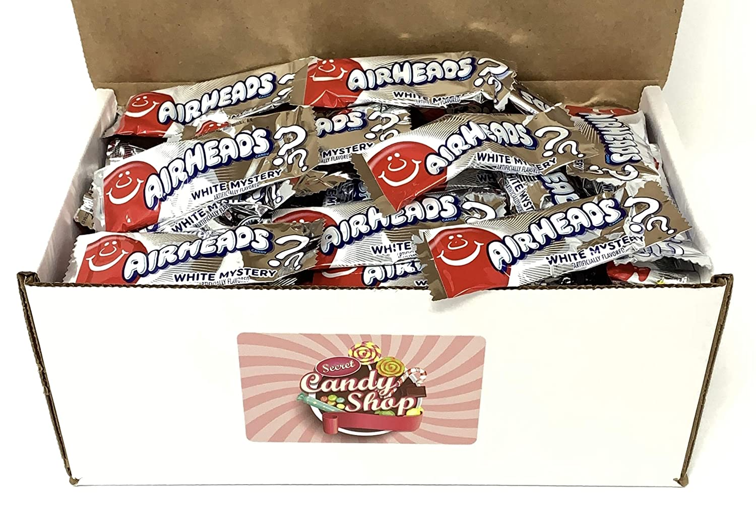Import AirHeads Max 45% OFF White Mystery Taffy Mini in Box Candy 2lb Individuall