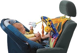 اسباب بازی تاف اسباب بازی ماشین اسباب بازی نوزاد مرکز فعالیت کیک و بازی با موزیک، چراغ، آینه و اسباب بازی جینگل | اسباب بازی کودک سرگرم کننده برای صندلی عقب خودرو | درایو آسان تر با نوزادان، نوزادان