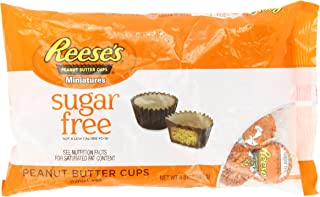 REESE'S Peanut Butter Cup Miniatures, Sugar Free/Gluten Free Milk Chocolate Peanut Butter Candy, 8.8 Ounce Bag (Pack of 3)