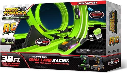 venta Max Max Max Traxxx Tracer Racers R C High Speed Remote Control Twin Loop Track Set by Max Traxxx  Mejor precio