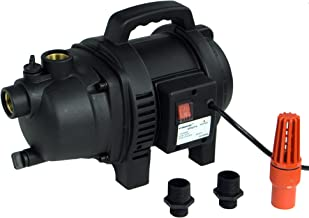 HydraPump Utility – 120V 1HP 1,000 GPH Powerful and Lightweight Utility Water Pump with Two 3/4