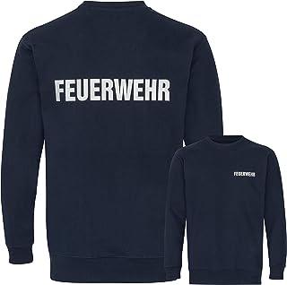 PACOTEX Fire Brigade Premium Sweatshirt Men's 220 g/m² Workwear Quality with Reflective Print on Both Sides