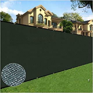 4 Ft X 50 Ft Black Privacy Fence Screen Netting Mesh Fabric Windscreen with Reinforced Grommets for Chain Link Fence Or Any Outdoor Metal or Wooden Fencing w/3-Year Warranty 165 GSM