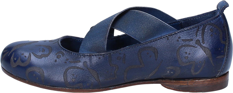 MOMA Flats-shoes Womens Leather bluee