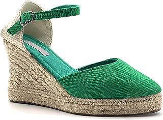 058a22979245d Angkorly - Chaussure Mode Sandale Espadrille Folk Ethnique Bohème  Romantique Femme avec de la Paille