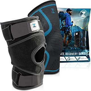 Zenith Knee Brace and Sleeve Bundle - Adjustable Knee Braces for Men and Women, Best Neoprene Compression for Knees with Meniscus Tear, Arthritis, Knee Pain, MCL, ACL (Medium)
