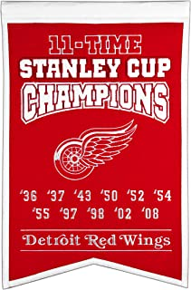 detroit red wings stanley cup banners
