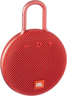JBL Clip 3 Waterproof Portable Bluetooth Speaker - Red