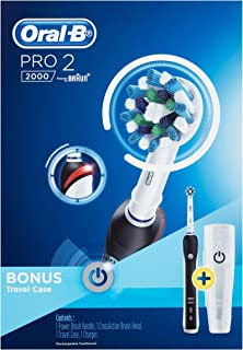 Oral-B Pro 2 2000 Black Electric Toothbrush and Travel Case