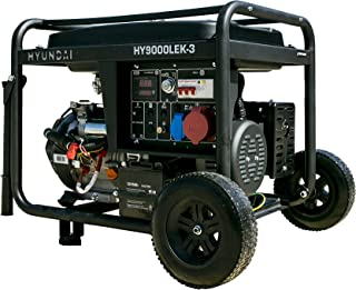 Hyundai HY-HY9000LEK-3 (Trifá.) - Generador gasolina serie pro 3.000 rpm, Negro