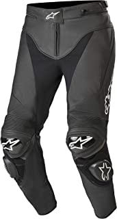 Alpinestars Track V2 Leather Pants (48, 10-Black)