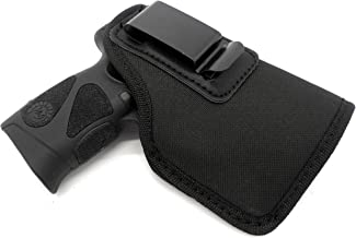 HOLSTERMART USA Right Hand Inside Pants IWB AIWB Clip-On Concealment Holster for Under-The-Barrel Lasers fits S&W M&P Shield 9 40 45, Taurus PT111 140 145 745 and G2, G2C, G2S