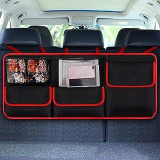 Organizador de maletero para coche,organizador maletero, [elastic net & 4 estructura de varita mágica] robusto organizador maletero,el mejor bolsas maletero coche,organizador asientos coche