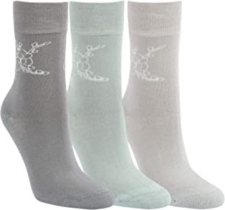 3//6 Damen Bambus Socken extra weitem u breitem Softrand ohne Gummi Diabetiker