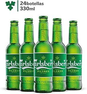 Cerveza Importada Premium Carlsberg 24 botellas de 330ml c/u