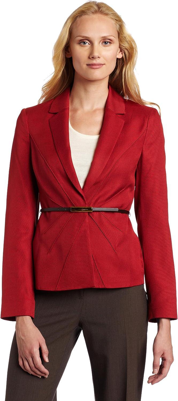 AK Anne Klein Women's Belted Blazer