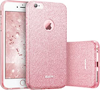 "ESR Case for iPhone 6/6s, Luxury Glitter Sparkle Bling Designer Case [Slim Fit, Hard Back Cover] Shining Fashion Style Compatible for iPhone 6/6s 4.7"" (Pink)"