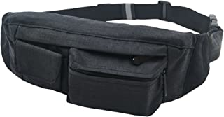 SoJourner 2-Pocket Bum Bag Hip Bag Waist Pack One Size Black