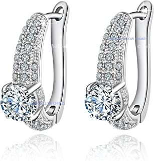 8f8ff7111 Yellow Chimes A5 Grade Crystals Celestial Spark Micro Pave Set Crystal  Earrings for Women and Girls