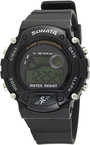 Sonata Digital Grey Dial Men's Watch -NM7982PP03 / NL7982PP03