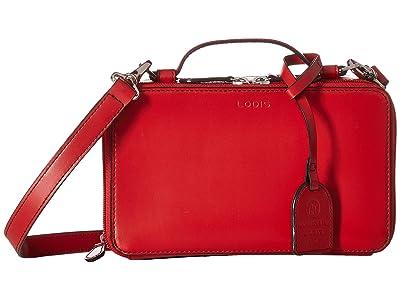 Lodis Accessories Audrey RFID Sally Zip Around Crossbody (Red) Cross Body Handbags