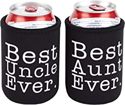 TahoeBay Best Aunt Uncle Premium Thermal Sleeve Set for Cans and Bottles (2-Pack)