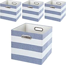 Posprica Collapsible Storage Boxes Cube Basket Bins Containers Drawers for Nurseries,Offices,Closets,Home Décor (11''/4pcs...